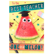 Thank You Teacher Card - One in a Melon