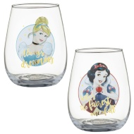 Disney Tumbler Glass Set 2pk - Cinderella & Snow White