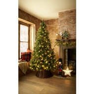 Pre-Lit Vermont Champagne Glitter Christmas Tree 7ft
