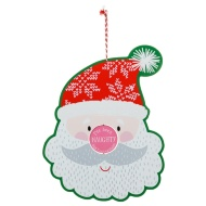Naughty & Nice Christmas Santa Plaque
