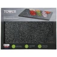 Solid Granite Chopping Board - Dark