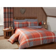 Tara Woven Check Double Duvet Set