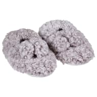 Ladies Cosy Snuggle Slippers - Grey