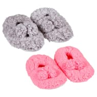 Ladies Cosy Snuggle Slippers - Pink