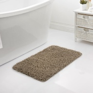 Shaggy Bath Mat - Brown