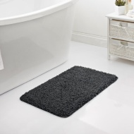 Shaggy Bath Mat - Charcoal