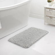 Shaggy Bath Mat - Grey