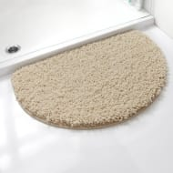 Shaggy Half Moon Bath Mat - Natural