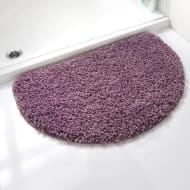 Shaggy Half Moon Bath Mat - Purple