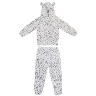 Younger Girl Leopard Lounge Set - Grey
