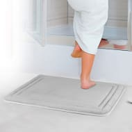 Bath Mat Set 2pk - Silver
