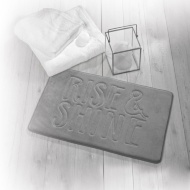 Beldray Slogan Bath Mat - Rise & Shine Grey