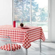 Home & Co Printed Tablecloth 132 x 230cm - Red Check