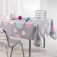 Home & Co Printed Tablecloth 132 x 178cm - Textured Circles