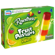 Rowntree's Fruit Pastille Ice Lollies 4pk