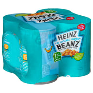 Heinz No Added Sugar Baked Beans 4 x 415g