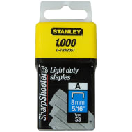 Stanley Light Duty Staples 8mm x 1000pk