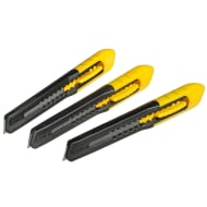 Stanley Snap-Off Blade Knife 3pk