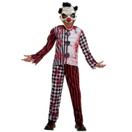 Kids Scary Clown Halloween Costume Ages 5-10