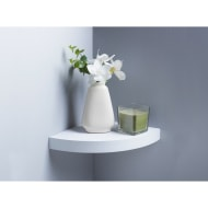 Lokken Corner Shelf - White