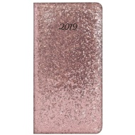 Slim Glitter Diary 2019 - Rose Gold
