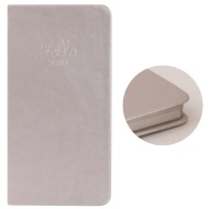 Slim Metallic Diary 2019 - Pearl