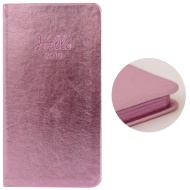 Slim Metallic Diary 2019 - Pink