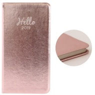 Slim Metallic Diary 2019 - Rose Gold
