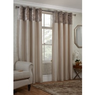 Crushed Velvet Top Border Thermal Eyelet Curtains 66 x 72