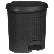 Knit Effect Pedal Bin - Black