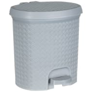 Knit Effect Pedal Bin - Grey