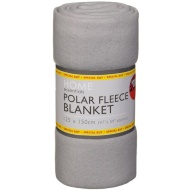 Polar Fleece Blanket 125 x 150cm - Grey