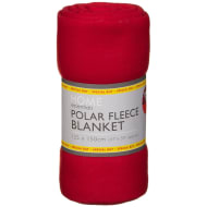 Polar Fleece Blanket 125 x 150cm - Red