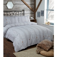 Silentnight Cable Knit Double Duvet Set