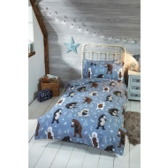 Silentnight Kids Bear Single Duvet Set - Grey
