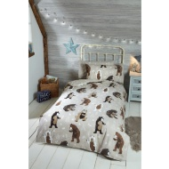 Silentnight Kids Bear Single Duvet Set - Natural