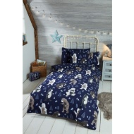 Silentnight Kids Bear Single Duvet Set - Navy