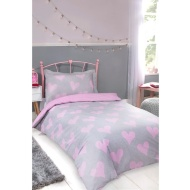 Hearts Double Bedding Twin Pack - Pink