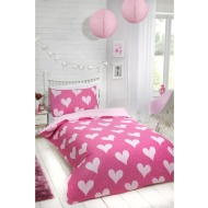 Hearts Single Duvet Set Twin Pack