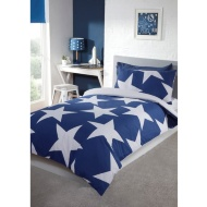 Stars Single Bedding Twin Pack - Blue