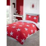 Stars Single Bedding Twin Pack - Red