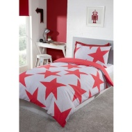 Stars Double Bedding Twin Pack - Red
