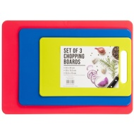 Multi-Purpose Chopping Boards 3pk - Blue, Red, Green