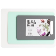 Multi-Purpose Chopping Boards 3pk - White, Aqua, Grey