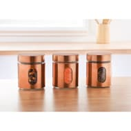 Glass Storage Canisters 3pk - Copper