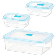 Fresh Clip Plastic Storage Containers 3pk - Duck Egg