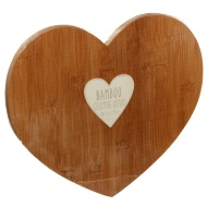 Heart Shaped Bamboo Chopping Board