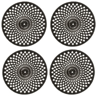 Luxe Maison Cut Out Coasters 4pk - Black