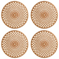 Luxe Maison Cut Out Coasters 4pk - Rose Gold