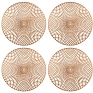 Luxe Maison Cut Out Placemats 4pk - Rose Gold